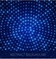 Abstract blue background with glowing dots vector image