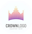 abstract crown logo made of dots isolated vector image