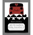 Black Friday Sale in Wonderland Banner Card vector image