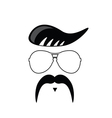 face with mustache portrait vector image