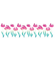 pink decorative style tulip line vector image
