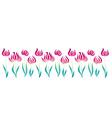 pink decorative style tulip line vector image