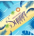 Summer holidays background with palm leaves vector image