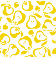yellow simple flat peir fruit seamless pattern for vector image