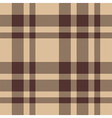 Beige brown check plaid seamless pattern vector image