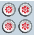 Flower icon set Dahlia aster daisy chamomile vector image