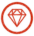 diamond rounded grainy icon vector image
