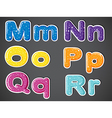 The vowel and consonant letters of the alphabet vector image