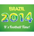 Brazilian 2014 World Cup for sport event vector image