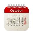 calendar 2015 - october vector image vector image