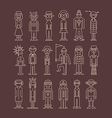 outline people icons vector image vector image