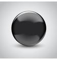 3D empty glass sphere vector image