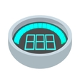 Dashboard indicator icon cartoon style vector image