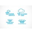 Cloud Logo Services vector image