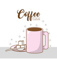 coffee culture concept vector image