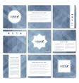 Grey set of brochure Square brochure template vector image