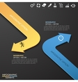Infographic template with 2 arrows vector image