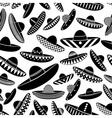 Mexico sombrero black hat variations icons vector image