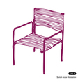 Modern chair vector image