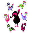 new year symbol design rooster holiday card vector image