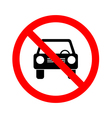 No car or no parking traffic sign prohibit sign vector image