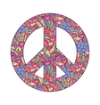peace symbol on white background vector image