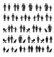 People family icons Man and woman child pet vector image