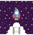 Space Exploration Cartoon Style Concept vector image