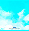 blue watercolor clouds and sky background vector image