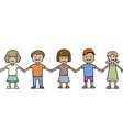 seamless group of children vector image vector image