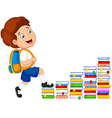 Child climbing stairs vector image