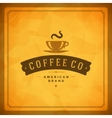Coffee Shop Logo Design Element vector image