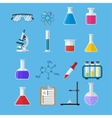 Set icon chemicals vector image