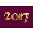 Golden New Year 2017 Greeting Card Magic sparkle vector image