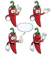 Smiling chili pepper set vector image vector image