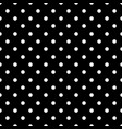 tile pattern with white polka dots on black vector image vector image