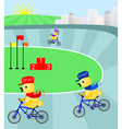 Race to the Top on the cycling track vector image