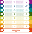 Infographic Colourful arrows template from white vector image