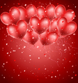 heart balloons flying vector image