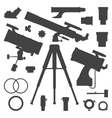 astronomy telescope silhouette collection vector image