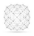 Abstract wireframe polygonal geometric element vector image