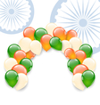 Balloons in National Tricolor vector image