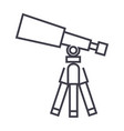 telescopescope line icon sign vector image