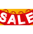Sale on red packet vector image