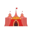 Circus Temporary Tent In Stripy Red Cloth With vector image vector image