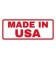 Made In USA Rubber Stamp vector image