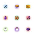 Ice fight icons set pop-art style vector image