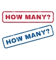 How Many Question Rubber Stamps vector image
