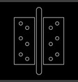 accessories for door the white path icon vector image