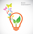Bulb butterflies leaves vector image vector image